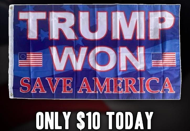 Trump Won Flag